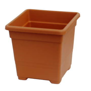 Macetas Y Jardineras - Macetas Plastico - Maceta Cuadrada 32cm Terracota